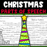 Christmas Mad Libs Style Parts of Speech (nouns, verbs, and adjectives)