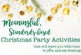 Christmas Party Activities, Cookie and Gingerbread Decorating, Standards-Based