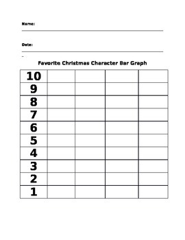 Christmas Party Activity- Graph your Favorite Holiday Character