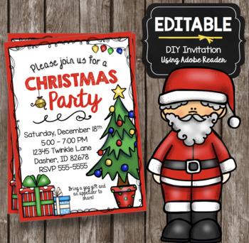 Christmas Party Invitation - EDITABLE