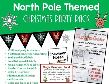 Christmas Party Invitation And Decor By Teacher Talk And