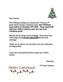 Christmas Party Letter