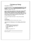 Christmas Party Letter English and Spanish