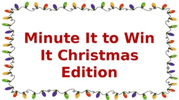 Christmas Party Minute It to Win It Games
