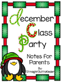 Christmas Party Parent Note- EDITABLE
