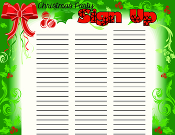 Christmas Party Sign Up