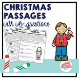 Christmas Passages with WH-questions--Leveled