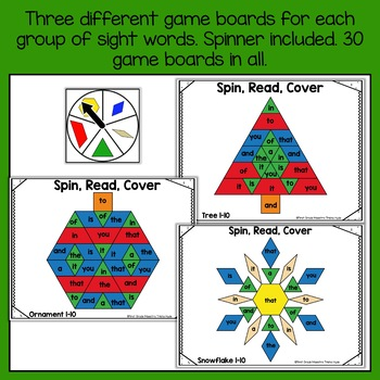 Christmas Pattern Block Sight Word Game