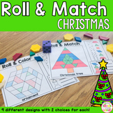 Christmas Pattern Blocks Mat Roll and Match Game
