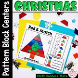 Christmas Pattern Blocks Mat Roll and Match Game