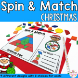 Christmas Pattern Blocks Mat Spin and Match Game