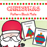 Christmas Pattern Blocks Mats and Task Cards