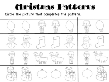 Christmas Pattern Pages