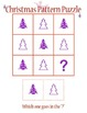 Pattern Puzzles, Christmas Themed, Cut n' Solve!