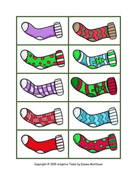 Christmas Pattern and Order Matching Activities