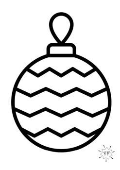 Christmas Patterning Ornaments