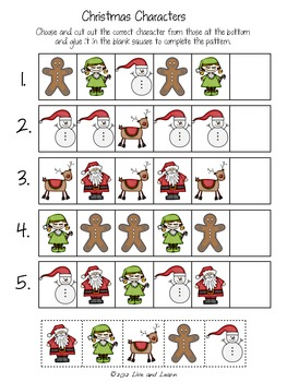 Christmas Patterns - AB, ABB, AAB, ABC