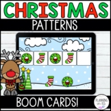 Christmas Patterns Boom Cards for December and Distance Learning