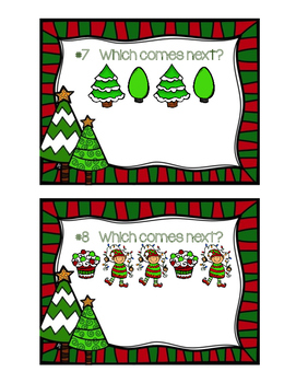 Christmas Patterns Write the Room