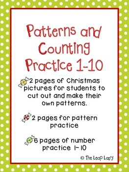 Christmas Patterns and Counting Practice