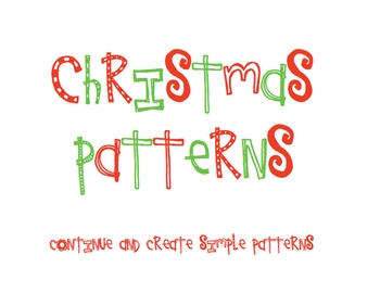 Christmas Patterns for SMARTBoard