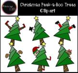 Christmas Peek-a-Boo Trees Clipart / Christmas Clipart / E