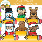 Pencil Topper Christmas Clip Art