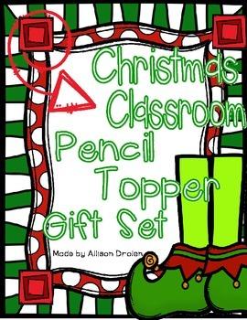 Christmas Pencil Topper Gift Set