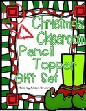 Christmas Pencil Topper Gift Set