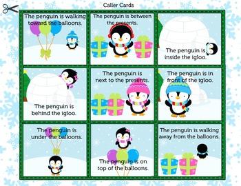 Penguin Bingo - Recognizing Position Words