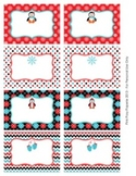Christmas Winter Penguin Classroom Decor Bin Tag Labels