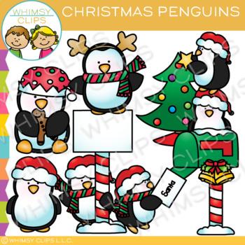 Christmas Penguin Clip Art