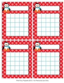 Christmas Winter Penguin Incentive Reward Charts