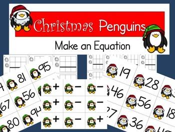 Christmas Penguin Make an Equation