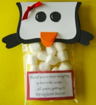 Christmas Penguin Poop student gifts (Sold in Sets of 24)