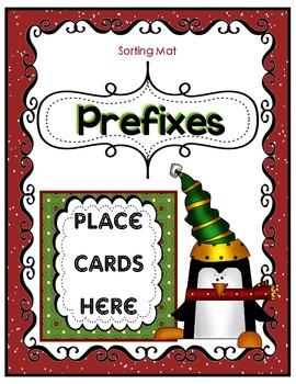 Christmas Penguin Prefix or Suffix Sort