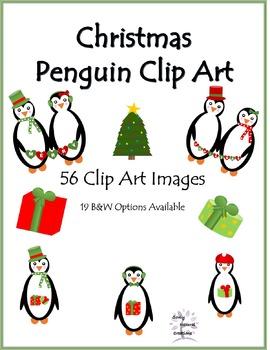 Christmas Penguins Clip Art (56 PNG Images)