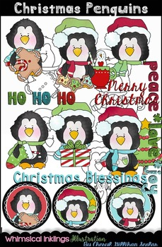 Christmas Penguins Clipart Collection