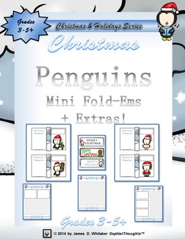 Christmas Penguins Mini Fold-Ems and Writing Templates