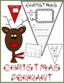 CHRISTMAS Pennant & REINDEER Drawing