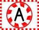 Christmas Peppermint Candy Alphabet Letter Posters Upperca