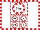 Christmas Peppermint Candy Dolch Pre-Primer Sight Word Flashcards and Posters