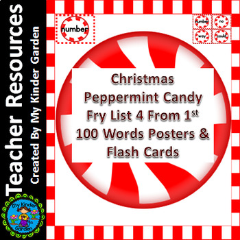 Christmas Peppermint Candy Fry List 4 of 1st 100 Sight Wor