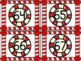 Christmas Peppermint Candy Number Flashcards 0-100