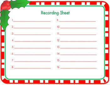 Christmas Percent Math Word Problem Task Cards