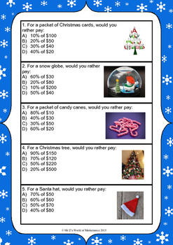 Christmas Percentages