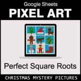 Christmas: Perfect Square Roots - Google Sheets Pixel Art