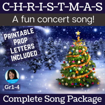 """Christmas Performance Song   """"C-H-R-I-S-T-M-A-S""""   Complete Song Package"""