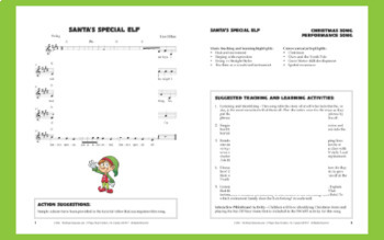 """Christmas Performance Song   """"Santa's Special Elf""""   Complete Song Package"""