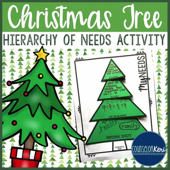 Christmas Personal Needs Activity-School Counseling- Maslo
